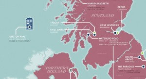 UK TV shows map